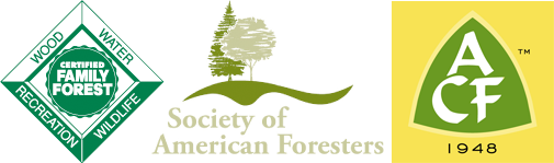 American Tree Farm System and Society of American Foresters logos